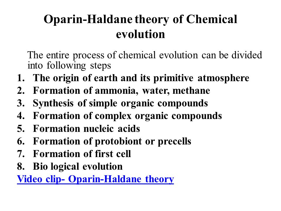 oparin and haldanes theory Study 81 unit 1: evolution quiz concepts/terms flashcards from madison m on studyblue.