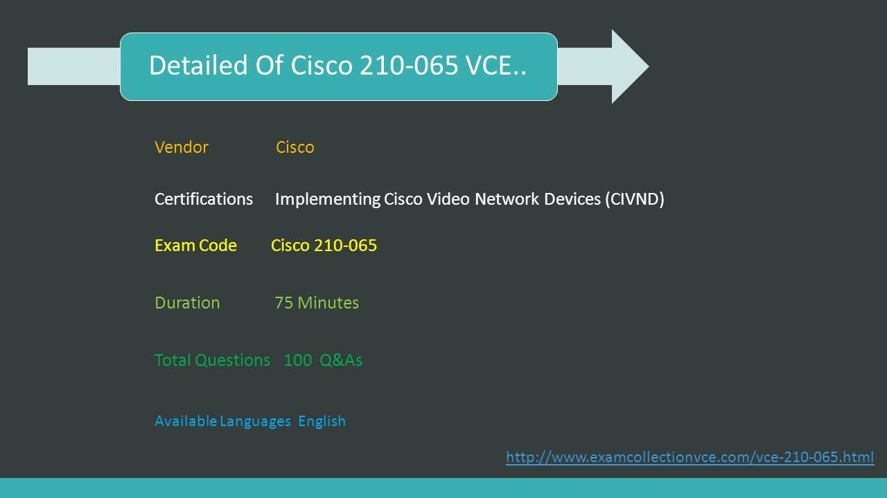 Implementing cisco video network devices civnd ppt download detailed of cisco 210 065 vce vendor cisco 1betcityfo Choice Image