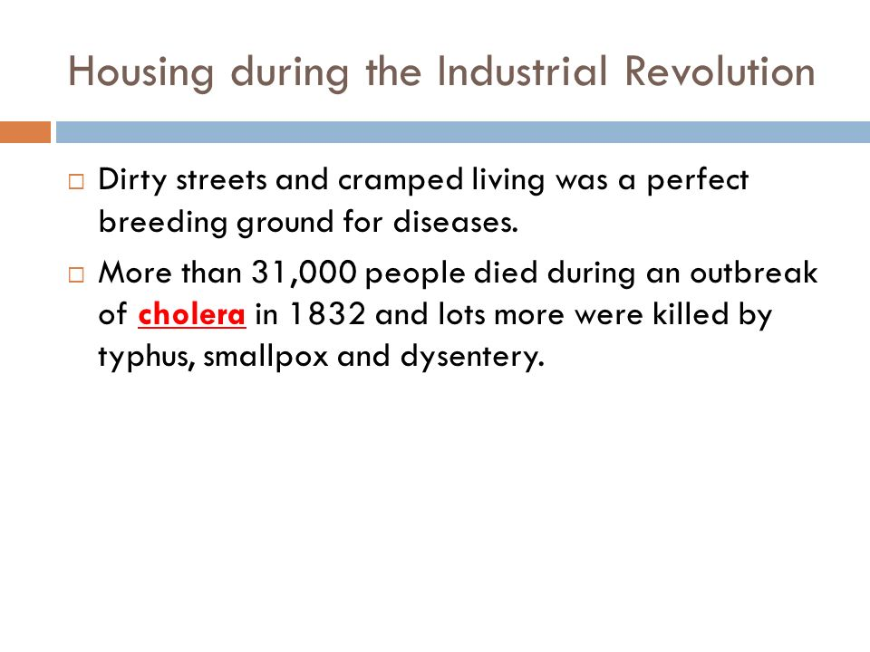 Housing during the Industrial Revolution