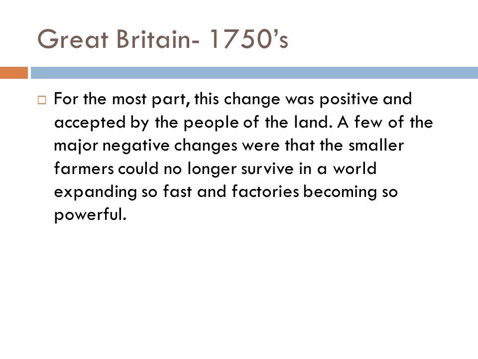 Great Britain- 1750's