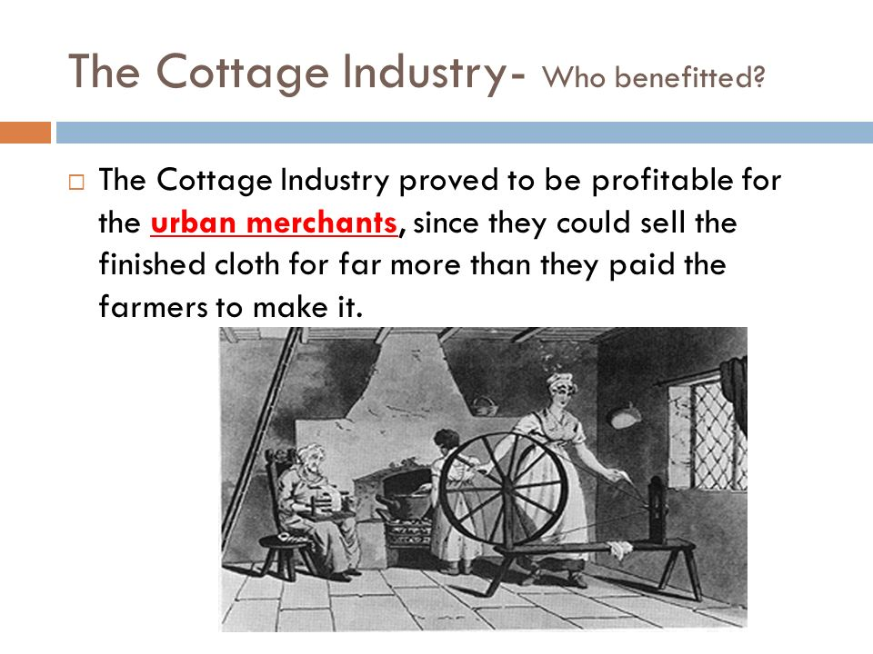 The Cottage Industry- Who benefitted
