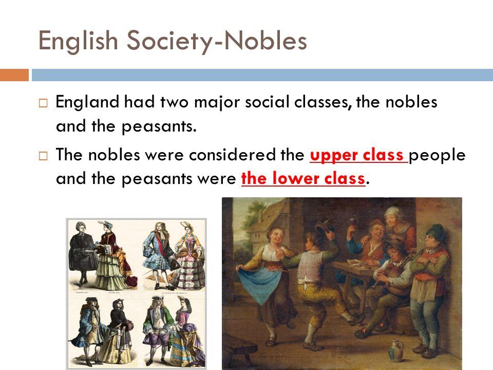 English Society-Nobles