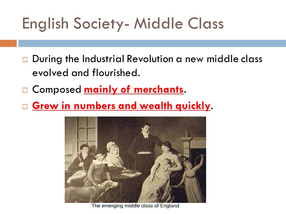 English Society- Middle Class