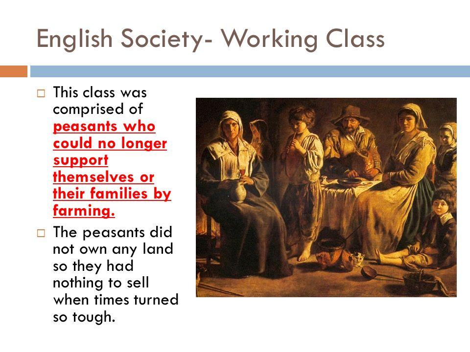 English Society- Working Class