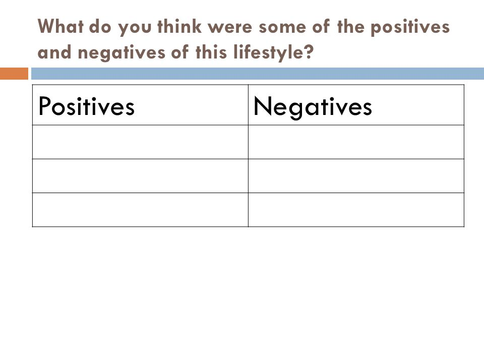 What do you think were some of the positives and negatives of this lifestyle