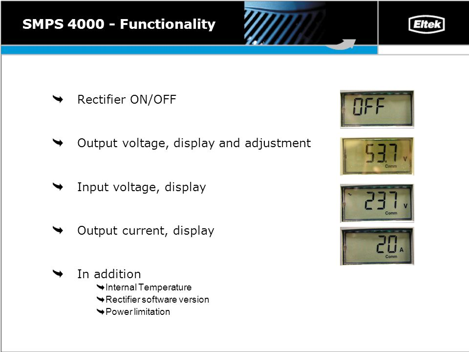AEON 4000 Including the SMPS 4000 rectifier and the AEON Gold Alarm ...