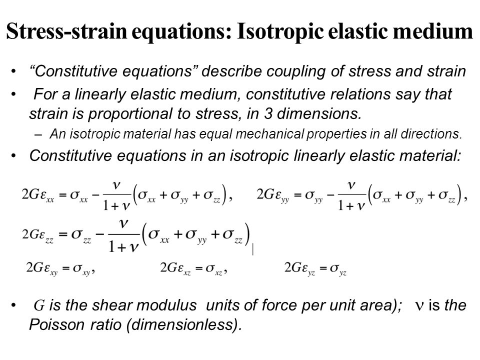 shear modulus and elastic relationship problems