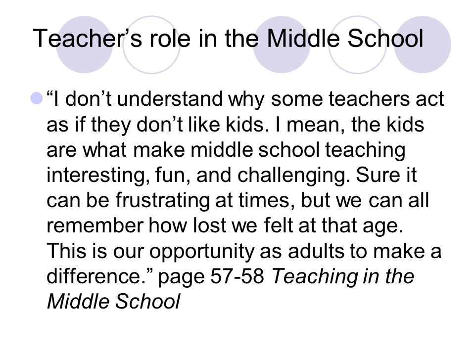 the role of teachers in middle Mathematics teaching in the middle school  the role of elementary mathematics specialists in the teaching and learning of mathematics  most elementary teachers .