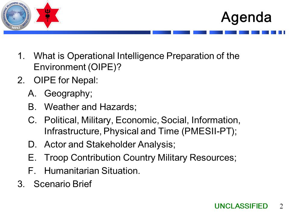 Operational Intelligence Preparation of the Environment - ppt download