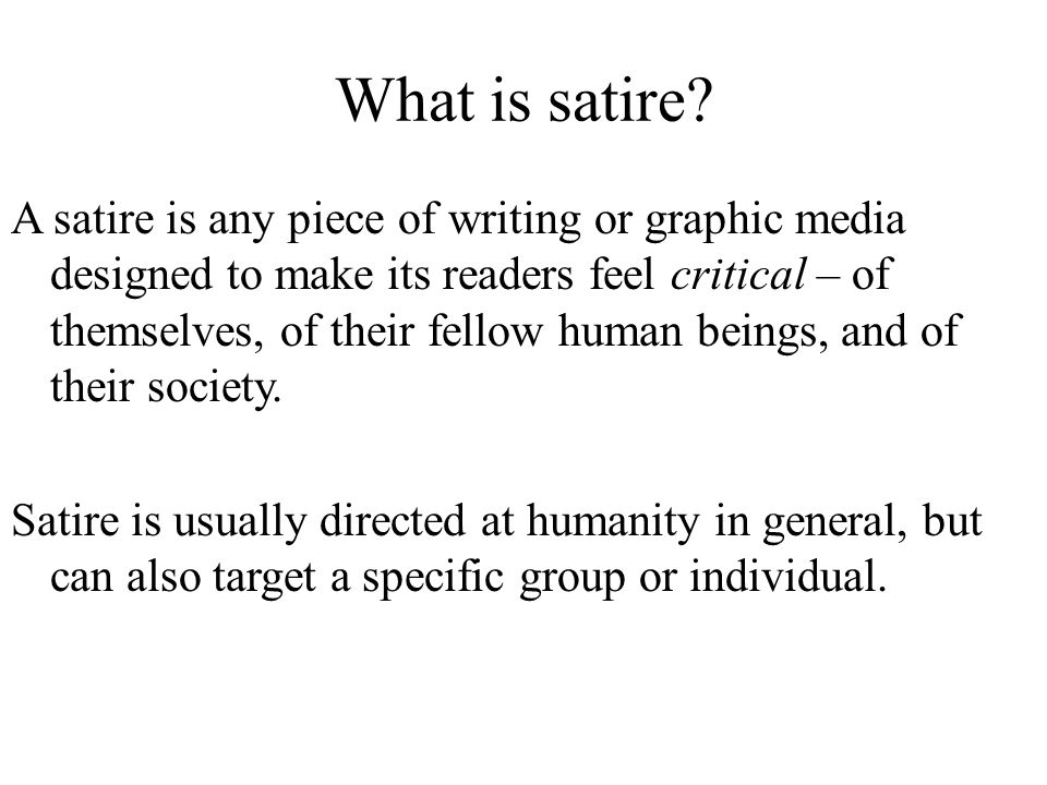 satire essay on television Read satire tv by nyu press for free with a 30 day free trial read ebook on the web, ipad, iphone and android.