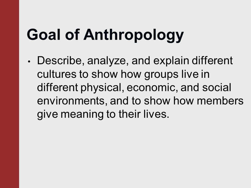 an analysis and an introduction to culture Introduction to cultural anthropology (ant 231) 3 semester hours department of social and cultural analysis semester: section culture with regard to its.