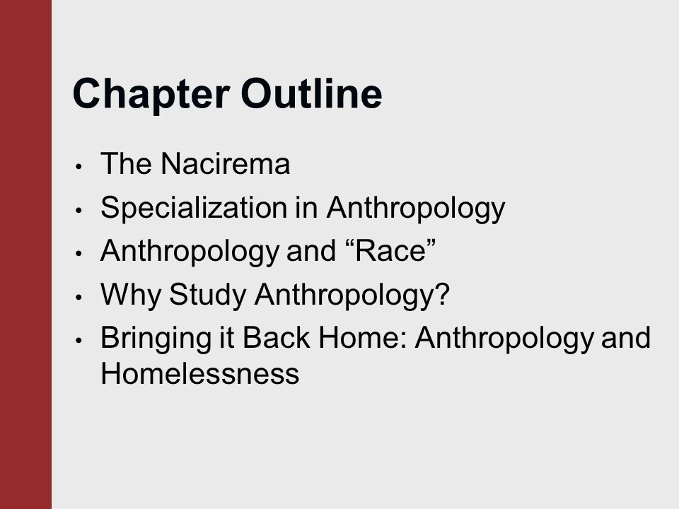 an introduction to the perspective on society and culture of the nacirema The approach one takes to study a particular subject is called a perspective  culture and society: an introduction  society sociology essay.