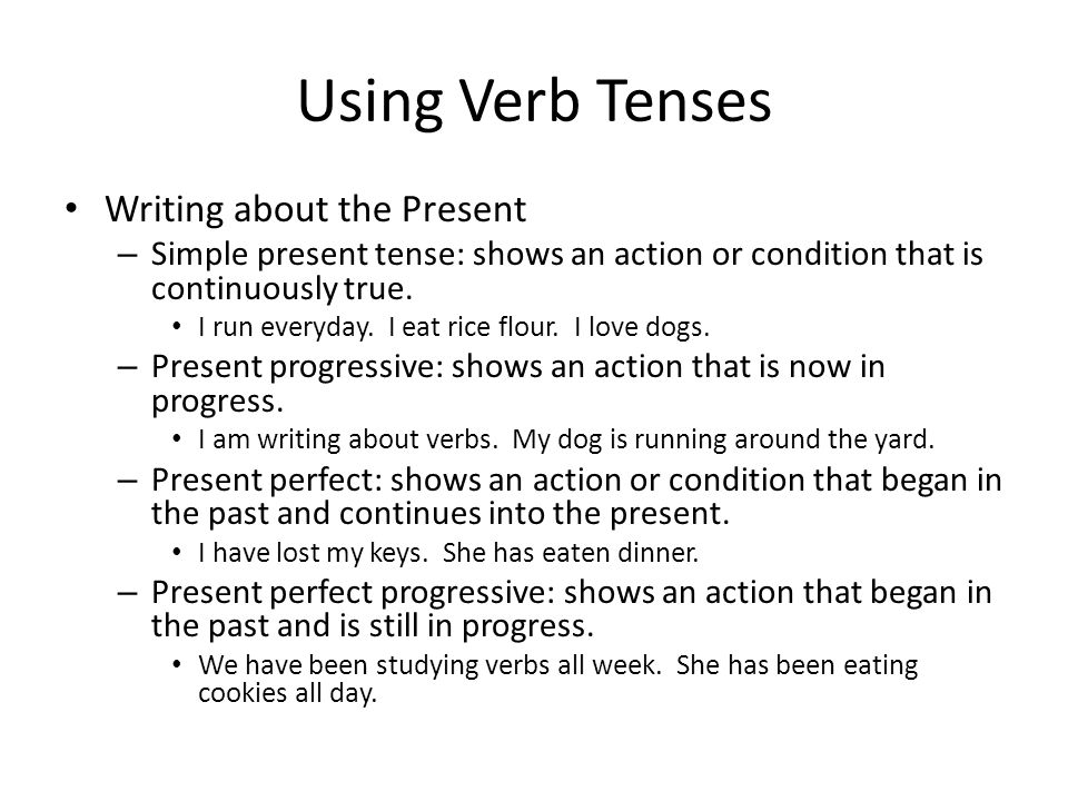 writing a story in the present tense