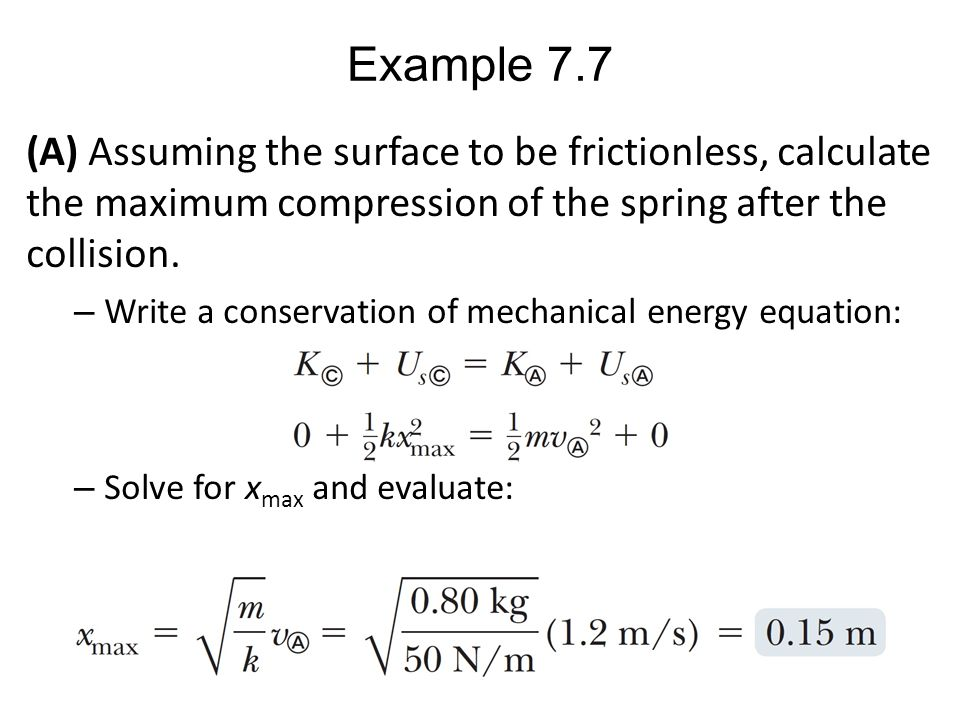 PHY 151: Lecture Nonis... Formula Of Mechanical Energy