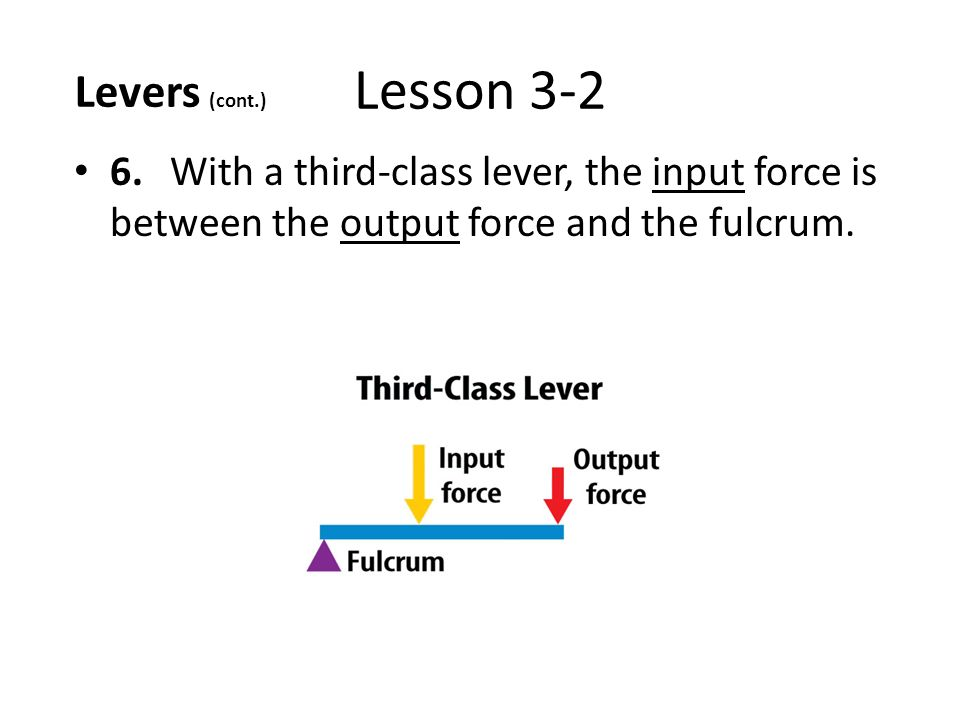 Lever Input And Output Force : Lesson reading guide vocab ppt download