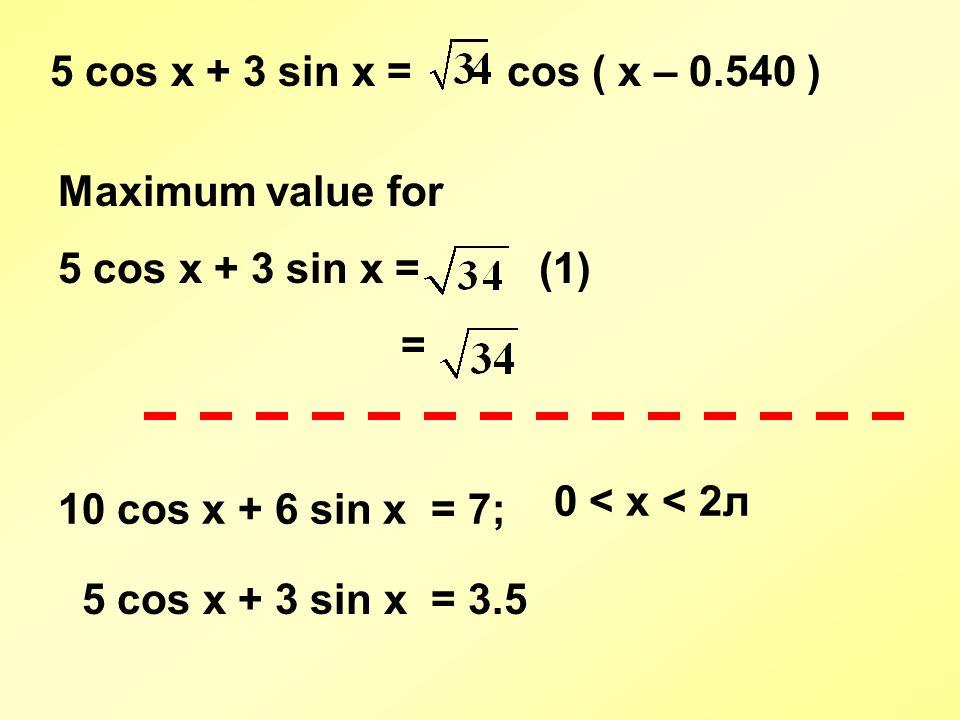how to find the maximum value of a trigonometric equation