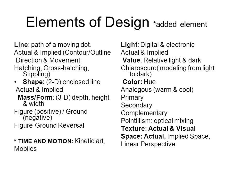Elements Of Design Direction : The elements of design ppt download