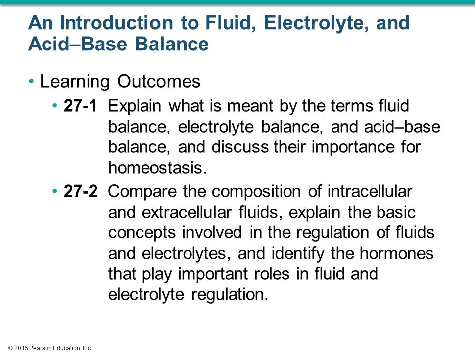 Basic concepts of fluid and electrolyte