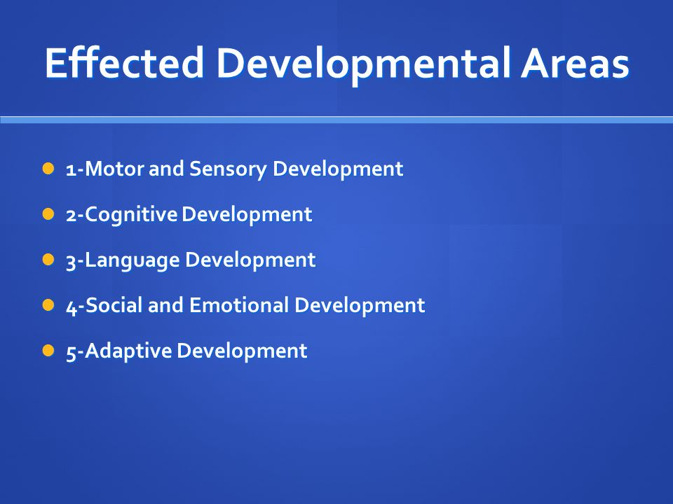 Cognitive Development Domain