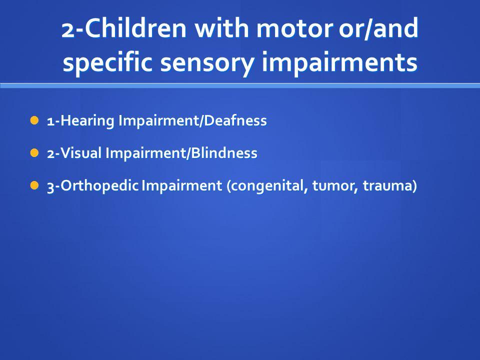 orthopedic impairment