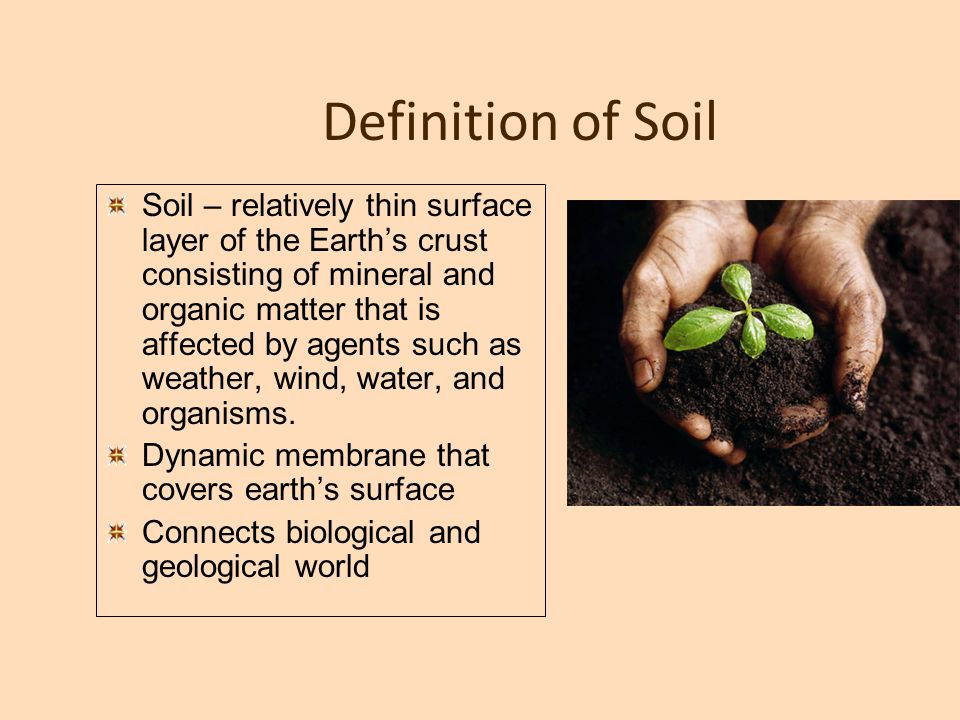 Soil and general term landslides