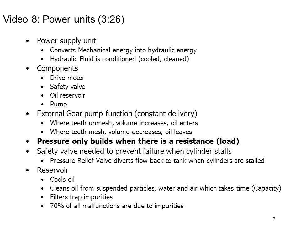 Video 8: Power units (3:26) Power supply unit Components