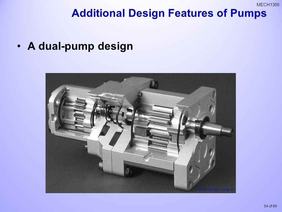 Additional Design Features of Pumps