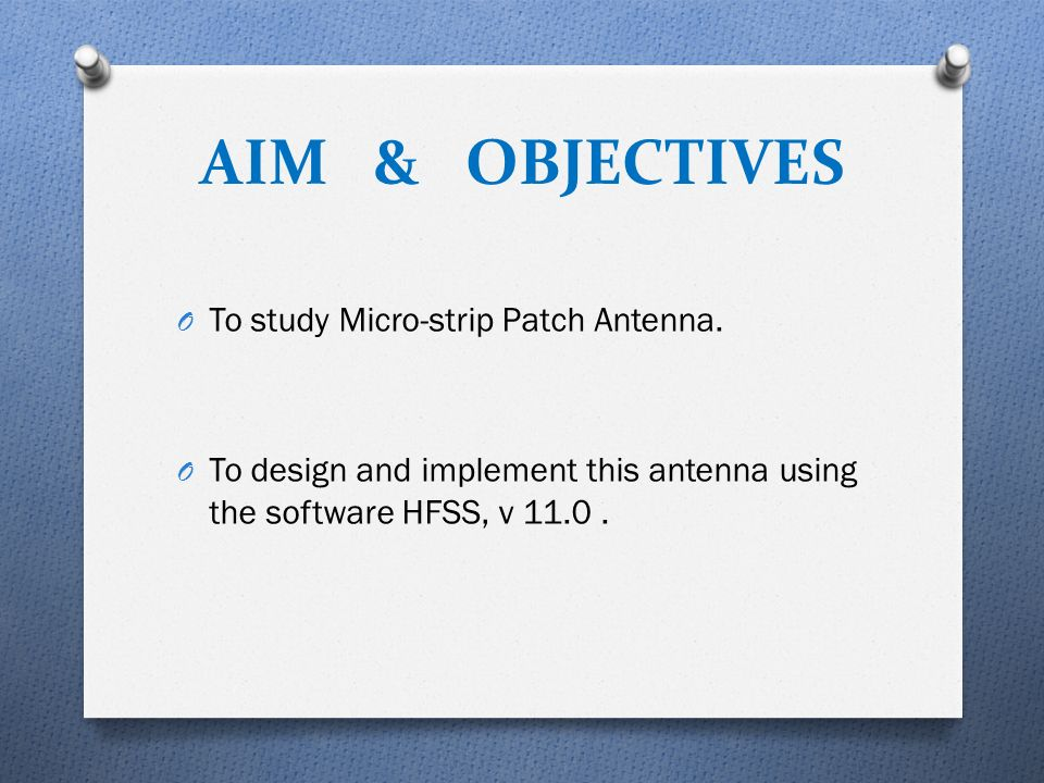 thesis on microstrip patch antenna design