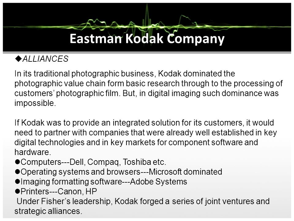 eastman kodak corporate level strategy No clear path to success for kodak company's decline a result of failure to find right strategy for change  that level is a credit to the resiliency of the local .