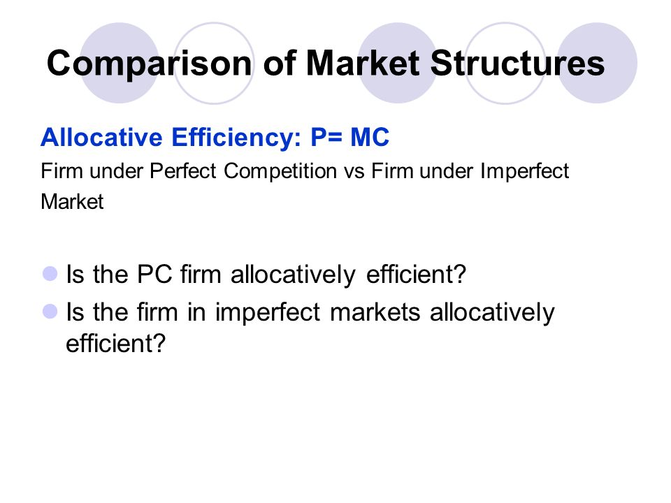 comparison of perfect and imperfect competition In contrast to perfect competition, imperfect competition is a fairly common market   there are minor differences that allow customers to distinguish the products.