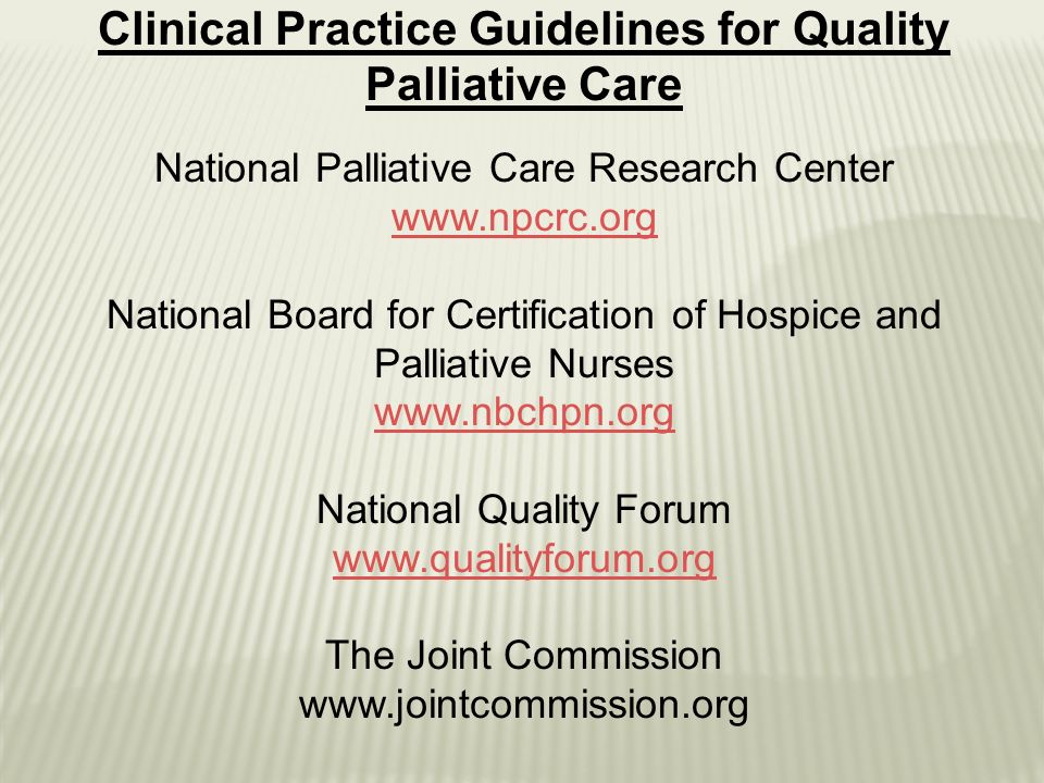 Palliative Care Training for Clinicians