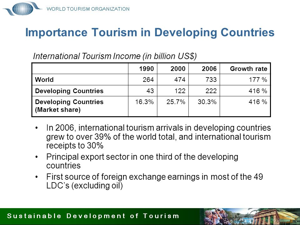 tourism in developing countries ppt Growing number of developing countries, revenue from mountain tourism represents a major source of foreign pro-poor tourism (ppt) aims to deliver increased.
