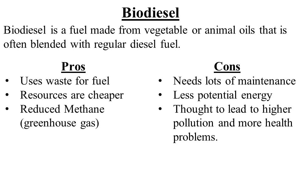 pros and cons of biofuels essay We look at the disadvantages and pitfalls of biofuels the focus is on measures  that can be undertaken to mitigate impact and limit drawbacks.