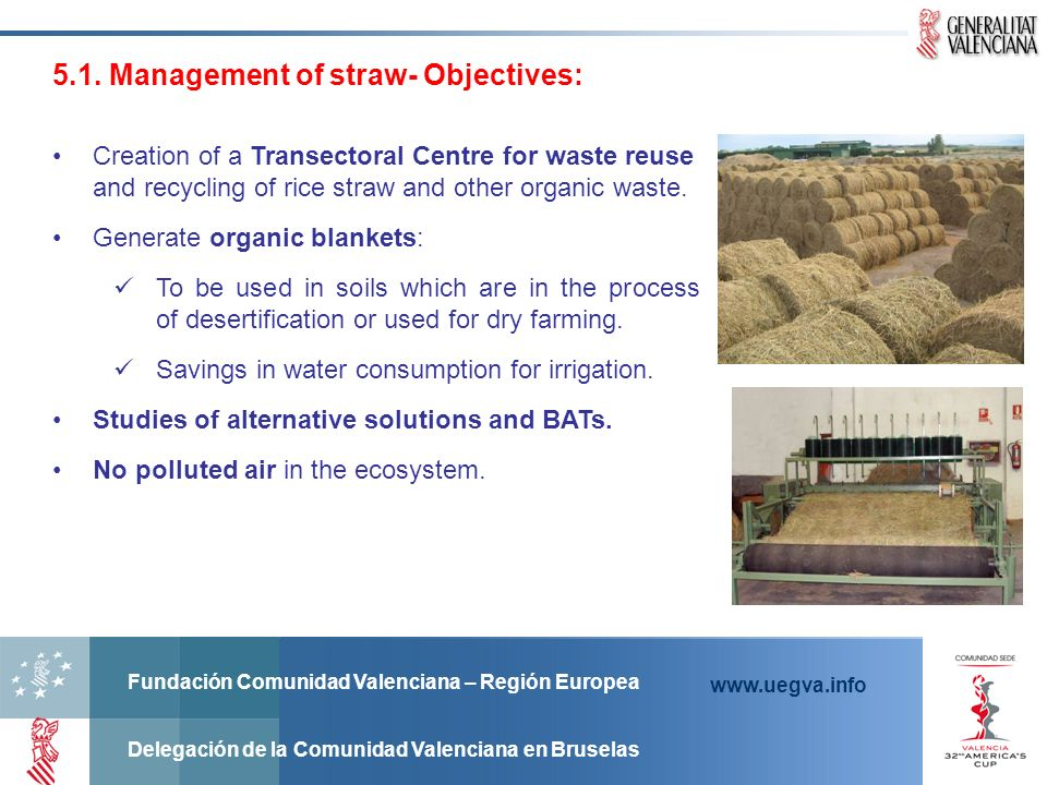 5.1. Management of straw- Objectives:
