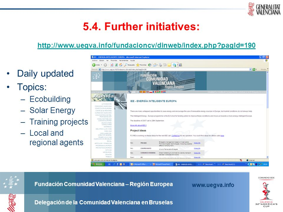 5.4. Further initiatives: Daily updated Topics: Ecobuilding