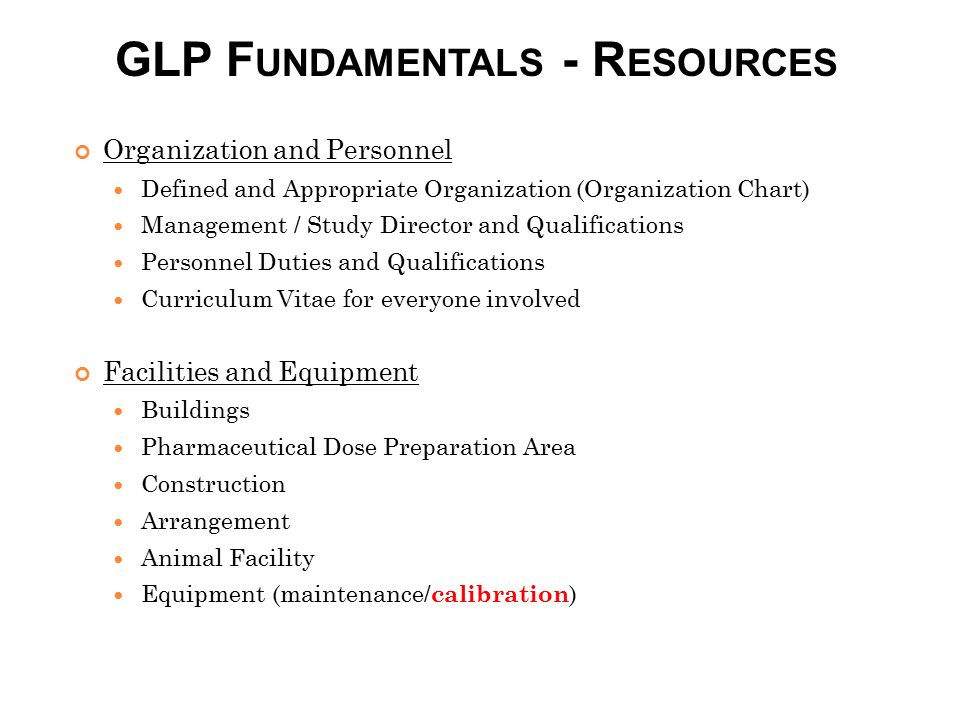 GLP Fundamentals - Resources