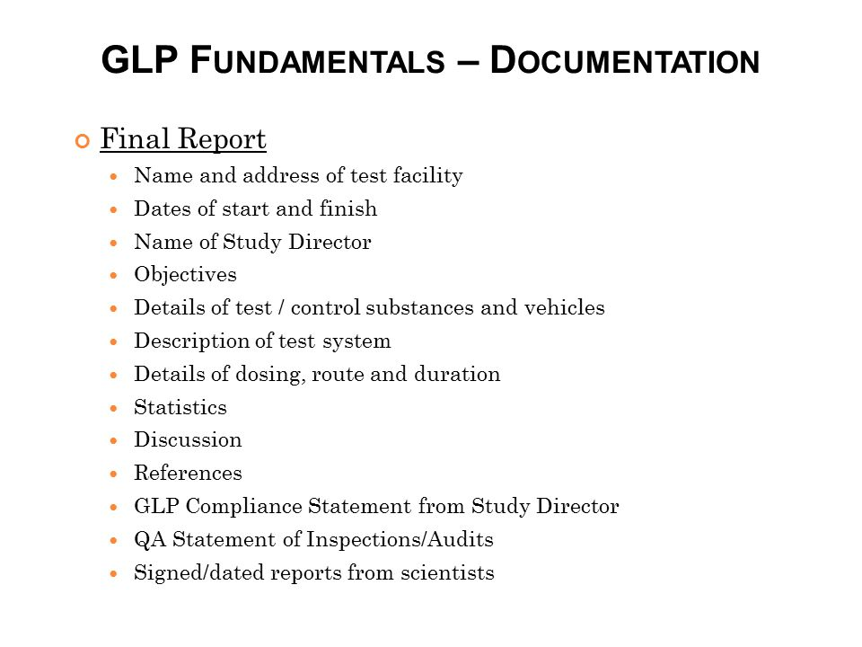 GLP Fundamentals – Documentation