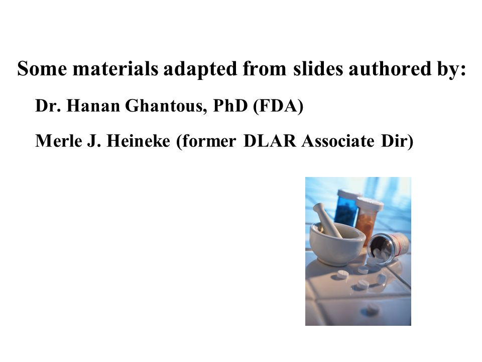 Some materials adapted from slides authored by: Dr