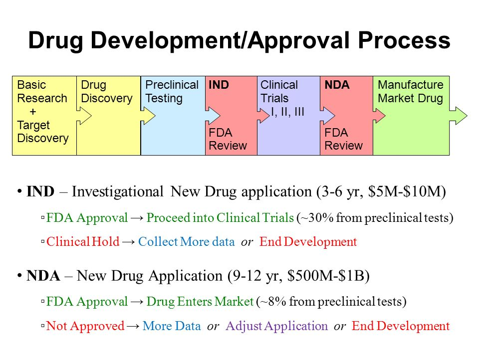 Drug Development/Approval Process