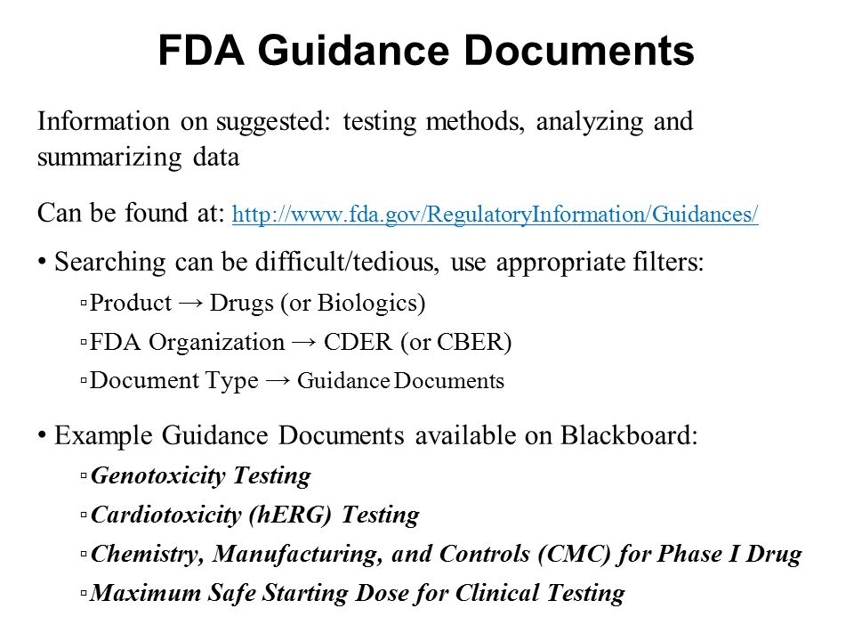FDA Guidance Documents