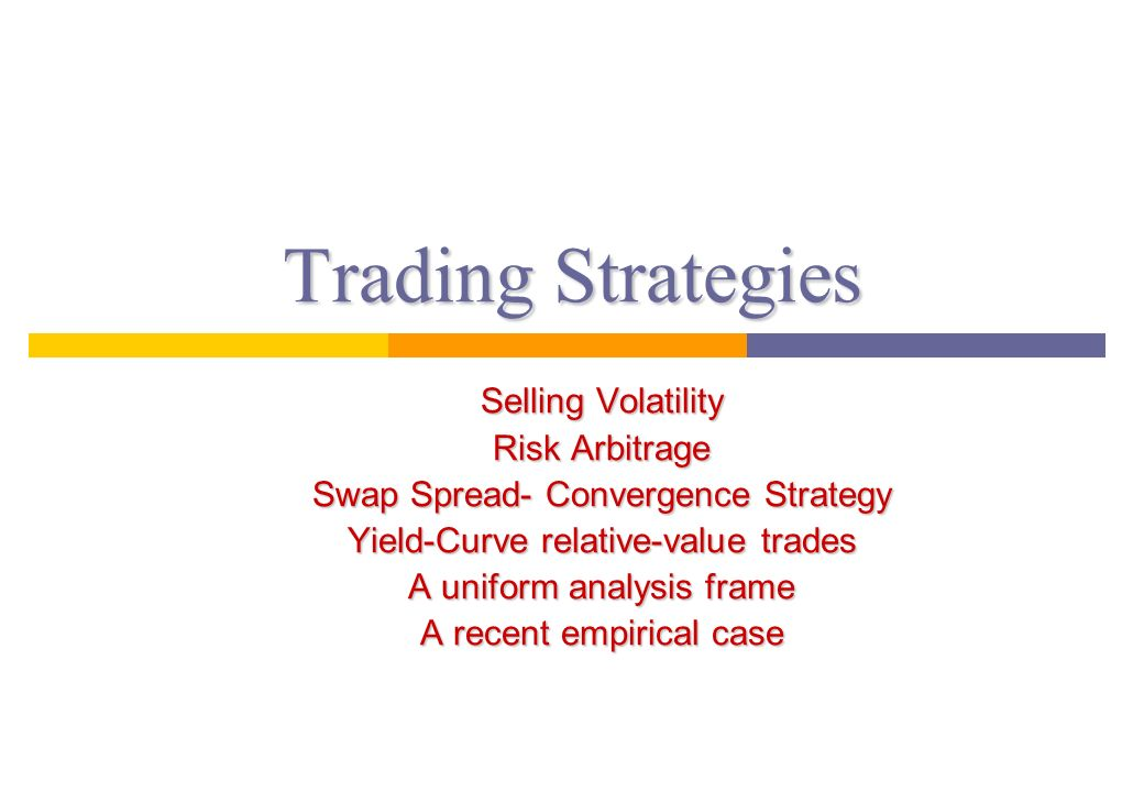 Option volatility trading strategies and risk
