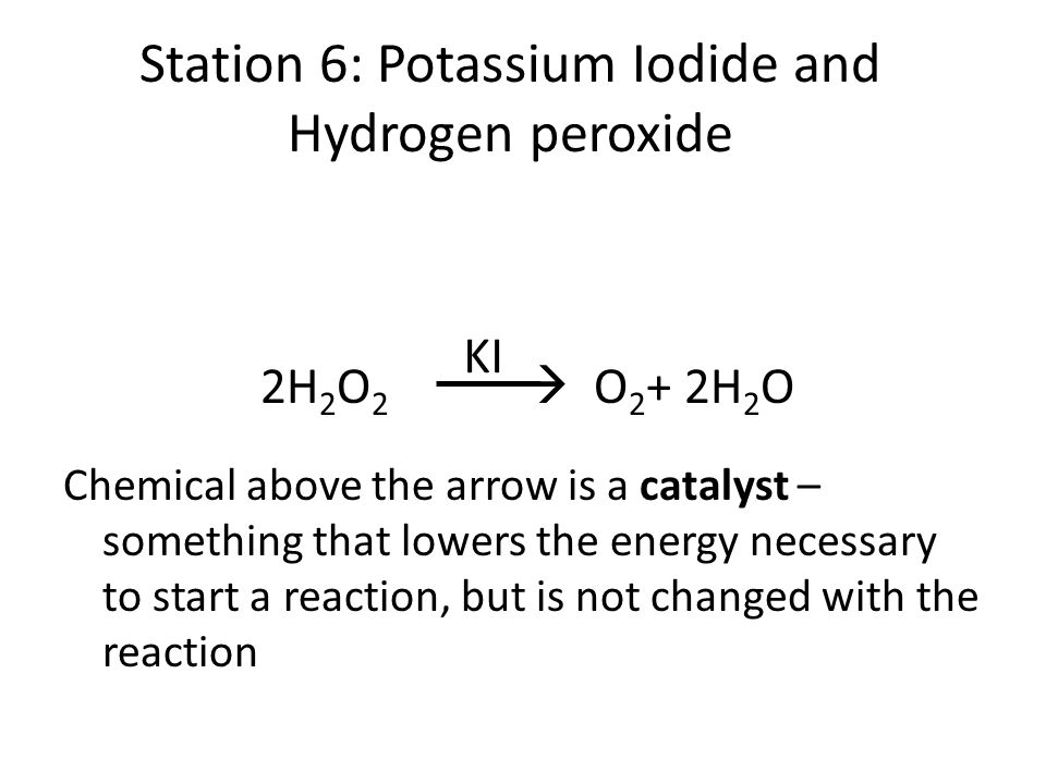 investigating the rate of reaction between hydrogen peroxide and iodide ions The rate of the iodine clock reaction and can hydrogen peroxide reacts with iodide ions in peroxide and it is ideal for investigating the.