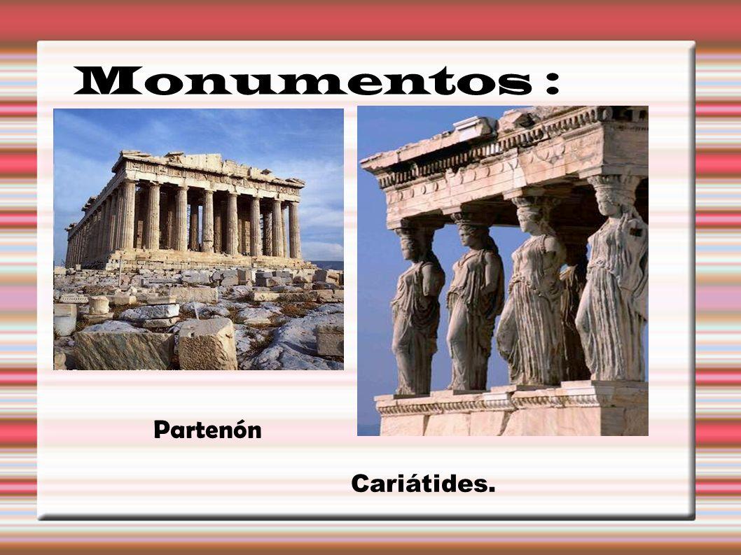 Monumentos : Partenón Cariátides.