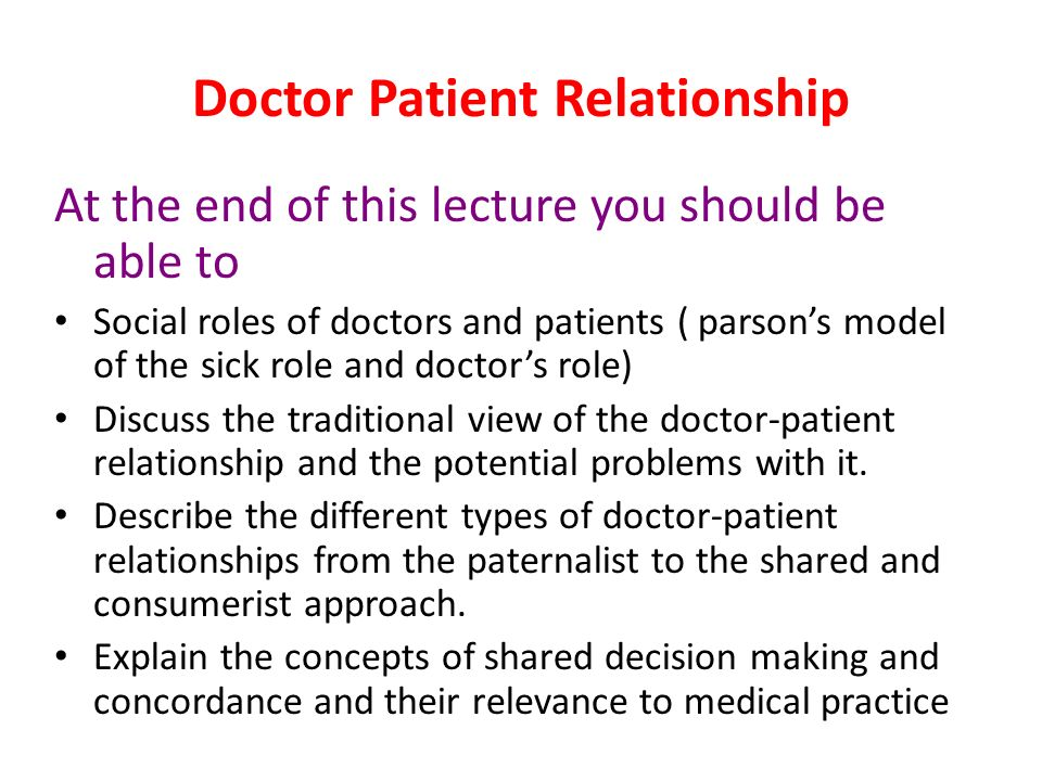 images of doctor patient relationship ppt
