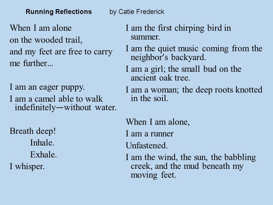 Running Reflections by Catie Frederick
