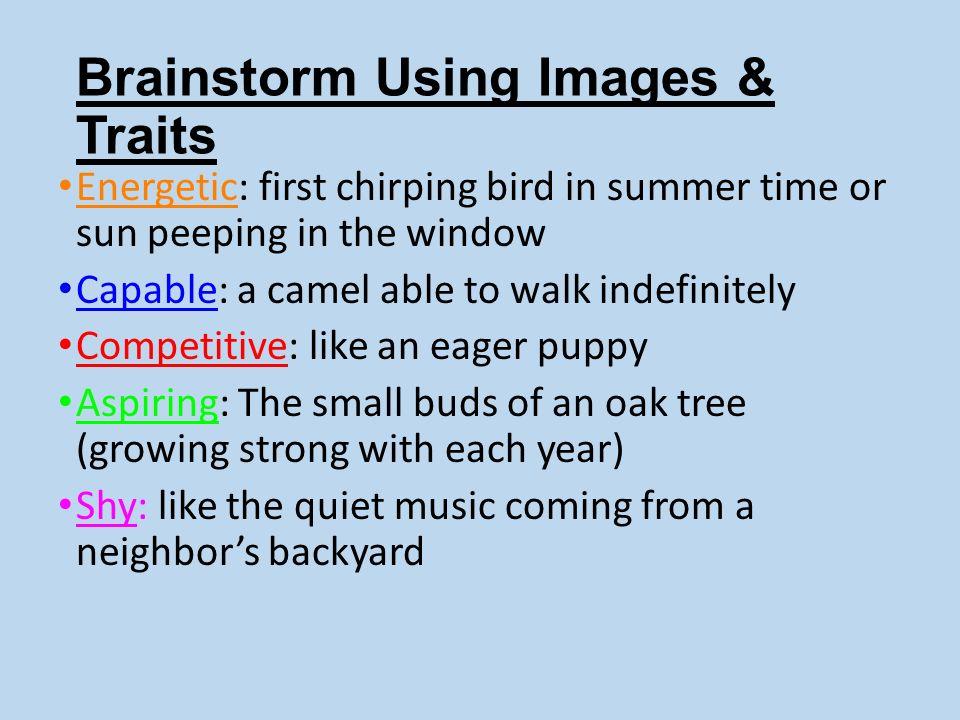 Brainstorm Using Images & Traits