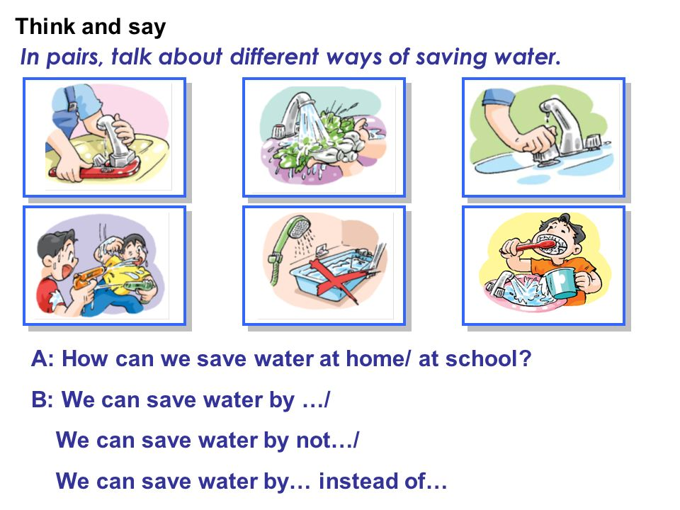 Let s save water hongwen school by xie zhenzhen ppt for How to conserve water at home