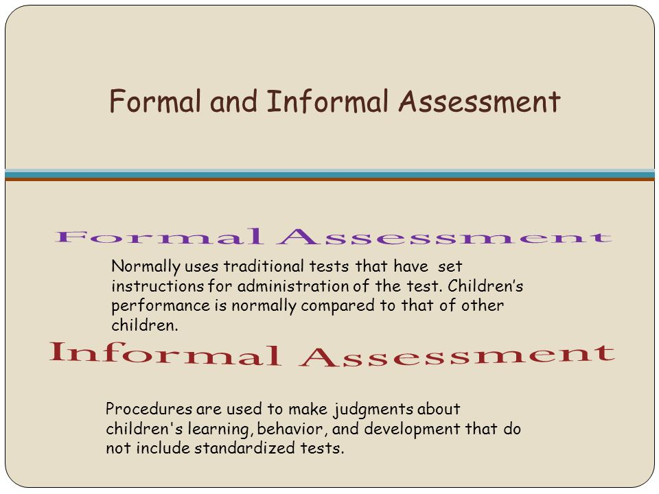 Informal Assessment  BesikEightyCo