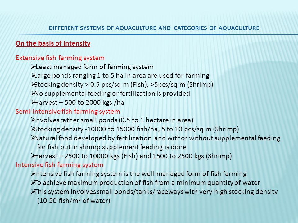 types of feed used in aquaculture Processing animal feed ts26 (ec)v01en_animal there are 2 main types of feed: feed originating from organic aquaculture.