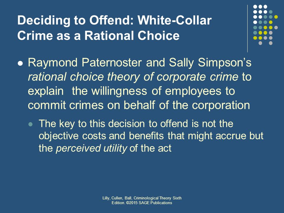 rational choice theory crime pdf